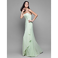 Lanting Floor-length Chiffon Bridesmaid Dress - Sage Sheath/Column Strapless