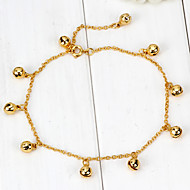 Sweet Style Bell Metal Ankle Chain (Gold)(1Pc)