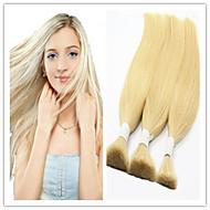 3pcs / lot brésilienne vierge humaine cheveux en vrac tressage de cheveux en vrac les cheveux en vrac 613 # blondeno verser aucune