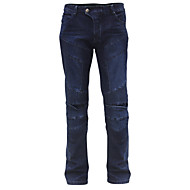 Reiten Stamm Motorradhosen Motorradfahren Rennschutz Jeans (schwarz / blau)