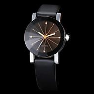 Мужской Женские Для пары Нарядные часы Модные часы Наручные часы Стразы Имитация Алмазный Кварцевый PU Группа Черный