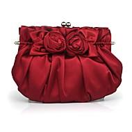 Matte Silk/Zijde - Evening Handbags/Clutches/Mini-Bags ( Zwart/Zilver/Goud/Oranje/Champagne/Rood , Flower