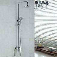 Zeitgenössisch Duschsystem Regendusche / Handdusche inklusive with  Keramisches Ventil Einzigen Handgriff Zwei Löcher for  Chrom ,