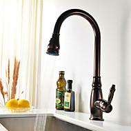 plataforma phasat® montada única alça de um buraco com torneira da cozinha bronze óleo-friccionado