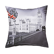 "Retro 18"" Square Cities Pillow With Insert"