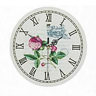 Relógio de parede - Retro - Redonda/Inovador - DE Alúminio/Madeira