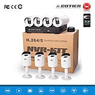 cotier® poe réseau 720p système des kits 8ch NVR / IR / HD / ip caméra n8b3 / kit-poe