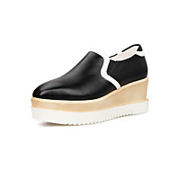Women's Shoes Faux Leather Platform Bootie/Creepers/Closed Toe Boots Outdoor/Dress/Casual Black/Red/White
