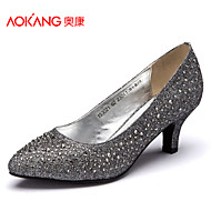Aokang Women's Shoes Tulle Stiletto Heel Heels/Comfort/Pointed Toe/Closed Toe Pumps/HeelsWedding/Outdoor/Office