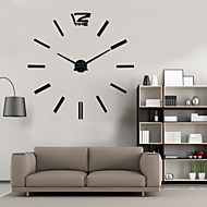 עיצוב עיצוב אופנת uermerstar צבע שחור שעון קיר הגדול בבית בקוטר שעון DIY 3D 39 ב