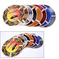 5 cores 4m / lot (volume) tomada de carro diy interior de ar condicionado ventilação decoração cromada tira styling