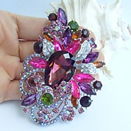 Women Accessories Silver-tone Multicolor Rhinestone Crystal Flower Brooch Art Deco Crystal Brooch Bouquet Women Jewelry
