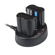 מטען USB הכפול Kingma לסוללת enel15 Nikon D600 D610 וd800e D7000 D7100 D750