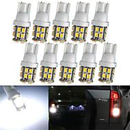 lorcoo ™ 20pcs x t10 20smd 3528 led blanche lumières de voiture ampoule 194 168 2825 5W (2 set)