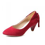 Women's Shoes Faux Leather Kitten Heel Heels Pumps/Heels Office & Career/Casual Black/Blue/Brown/Red/Beige