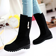 Women's Shoes Leatherette Flat Heel Snow Boots /  Office & Career / Casual Black / Brown