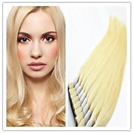 """3pcs / lot cheveux en vrac: 14 """"-32"""" vierge 100% brésilien en vrac de cheveux humains, blond 613 # droit soyeux"""