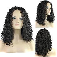 a estilos europeus e americanos senhora pequena peruca de cabelo crespo na cor 1b
