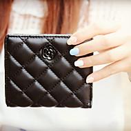 Damen PU Alltag Brieftasche Weiß / Rosa / Blau / Grün / Rot / Schwarz