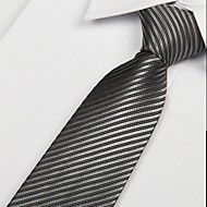 Adult Men Leisure Gray Black Line Twill Arrow Jacquard Tie Necktie