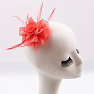 Handmade Sinamay Feather Flower Brooch Fascinators Hair Clip (more colors)