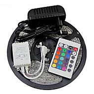 5 - 24 - 3528 SMD - RGB - Chippable/Fjernbetjening/Dæmpbar/Koblingsbar/Selvklæbende/Farveskiftende