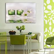 e-Home® sträckta ledde canvas print konst ljus och blommor ledde blinkande optisk fiber print
