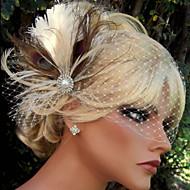 ручной свадебный перо зажим для волос чародей заставки fascinators 028