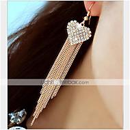 Earring Drop Earrings Jewelry Women Party / Daily Alloy / Rhinestone 1 pair Gold