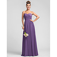 Wedding Party / Formal Evening / Military Ball Dress - Pool Plus Sizes / Petite A-line Sweetheart Floor-length Chiffon