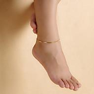 vrouwenmode vergulde gladde lichtmetalen buigen pijpen enkelbanden
