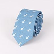 Галстуки ( Синий/Светло-голубой , Хлопок ) С рисунком