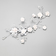 Women's / Flower Girl's Crystal / Alloy Headpiece-Wedding / Special Occasion Flowers 1 Piece White Round