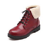 Women's Shoes Low Heel Combat Boots / Round Toe Boots Dress / Casual Black / Brown / Burgundy