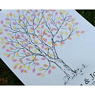 finger print bryllup treet, bryllup gjestebok alternativ