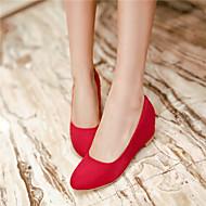 Chaussures Femme - Bureau & Travail / Décontracté - Noir / Bleu / Rouge / Beige - Gros Talon - Talons - Talons - Similicuir