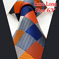 Men's Casual Checked Orange Ties