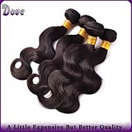 """Capelli 4pcs / lotto 8 """"-28"""" peruviano capelli vergini dei capelli umani dell'onda del corpo nero naturale bundle rosa prodotti per"""