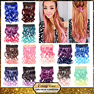 16 colors available fantastic Clip in Wavy Hair Extension Synthetic Hairpiece for Hallowmas