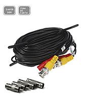 100ft (30m) CCTV-Sicherheits-Überwachungskamera Video-Strom-Verlängerungskabel vorgefertigte all-in-one-BNC-Cinch-Kabel