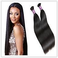 "3Pcs/Lot Factory Wholesale Brazilian Human Virgin Bulk Hair Extensions Unprocessed Human Hair Bulk 300G Lot 14""-32"""