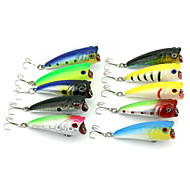 10 PCS Hard Bait Popper 60MM 7G Sinking Fishing Lure (Color Assorted)