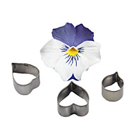 FOUR-C Heart Flower Stainless Steel Cutter Fondant Sugar Craft Cupcake Mold Baking Moulds Cookie Decorating Tools