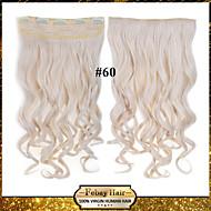 24inch 60 cm 120 g barva 60 # klip na prodlužování vlasů vlnitý klip na příčesky