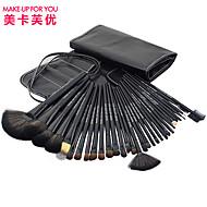 메이크업 당신을 위해 검은 색 전문 메이크업 브러쉬 세트 32pcs