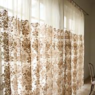 Dva panely Window Léčba Neoklasika / Rococo / Barroco / Evropský / Designové / Země / Moderní Obývací pokoj Směs polybavlny MateriálSheer
