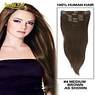 Klip na na prodlužování vlasů klip v prodloužení rovné lidské vlasy tkát prodlužování vlasů jakékoliv barvy