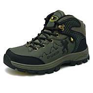 Hiking Women's/Men's Shoes Leather Brown/Green/Gray