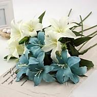 """22.4""""H 5 Pcs Artificial Lilies Flower Home Decor"""