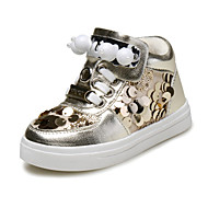 Baby Shoes Outdoor/Casual Leatherette Fashion Sneakers Black/Silver/Gold